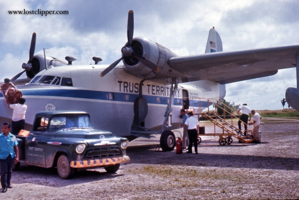 The Trust Territory SA 16 ( Tail # N9942F ) that served Truk Lagoon