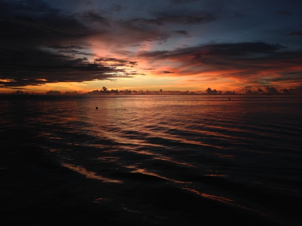 Sunset in Truk