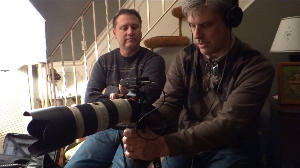 Filming the Lost Clipper documentary in Toronto Canada December 13, 2014