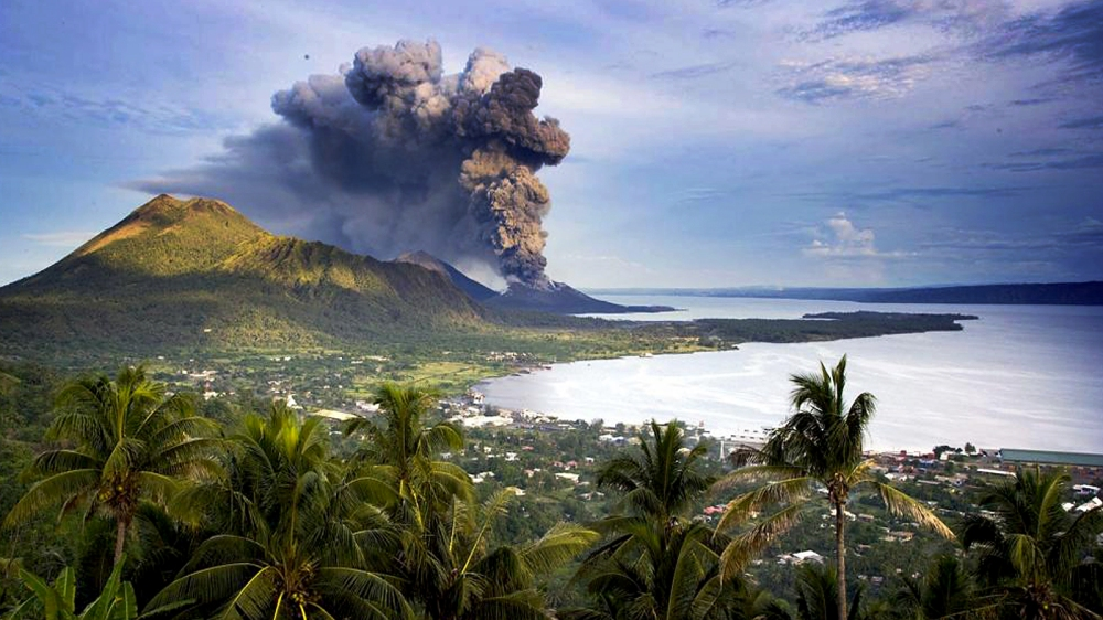 Eruption in Rabaul