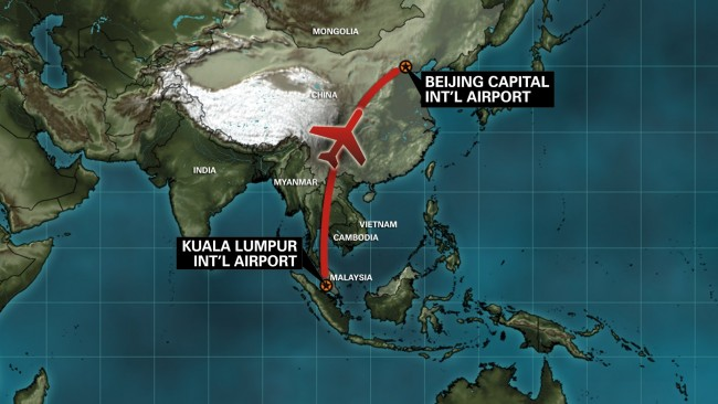 Malaysia-Airlines-Flight-370 route